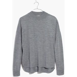 Madewell Mock Neck Boxy Pullover Sweater